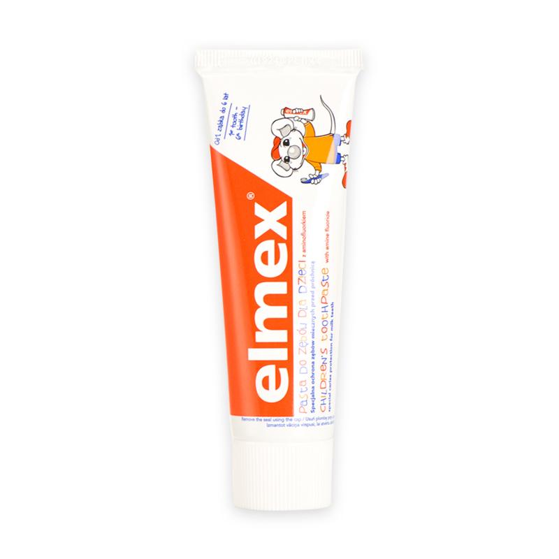 Elmex宝宝牙膏牙刷婴儿童可吞咽牙膏防蛀含氟可食用0-1-2-3-6岁