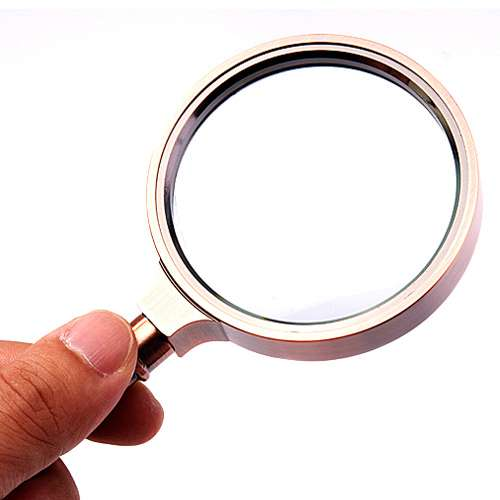The old man 10 times optical antique metal magnifier optical glass mirror glass lens bronze reading glass