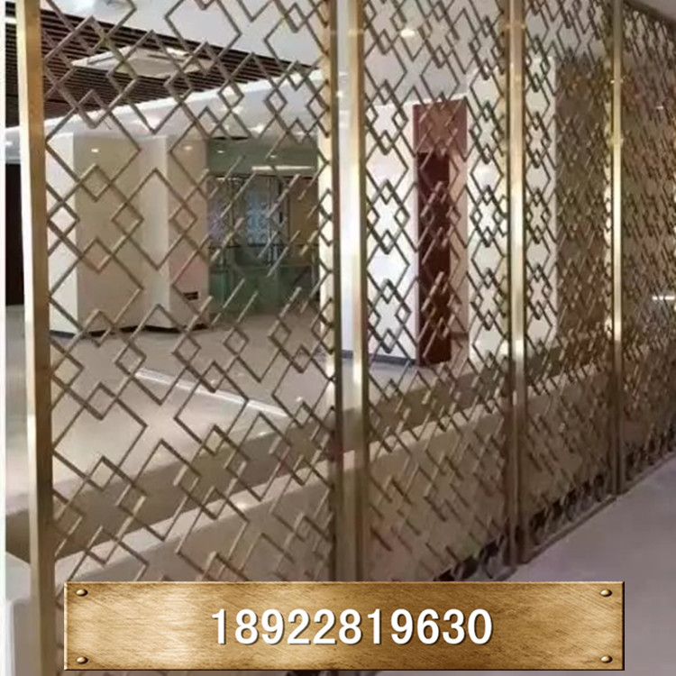 Custom size stainless steel screen, European screen, screen partition, fashionable screen, hollowed out wall