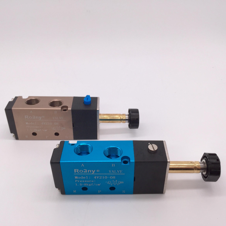 электромагнитный клапан электромагнитный клапан DC24/12VAC220V 4V210-08 двух из пяти через электромагнитный клапан с пневматическим приводом