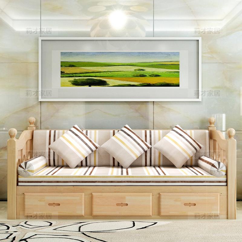 καλύπτει το ξύλο από πεύκο Ευρωπαϊκή συρόμενη πτυσσόμενο καναπέ - κρεβάτι έθιμο επεξεργασία αποθήκευσης σου τσάντα.