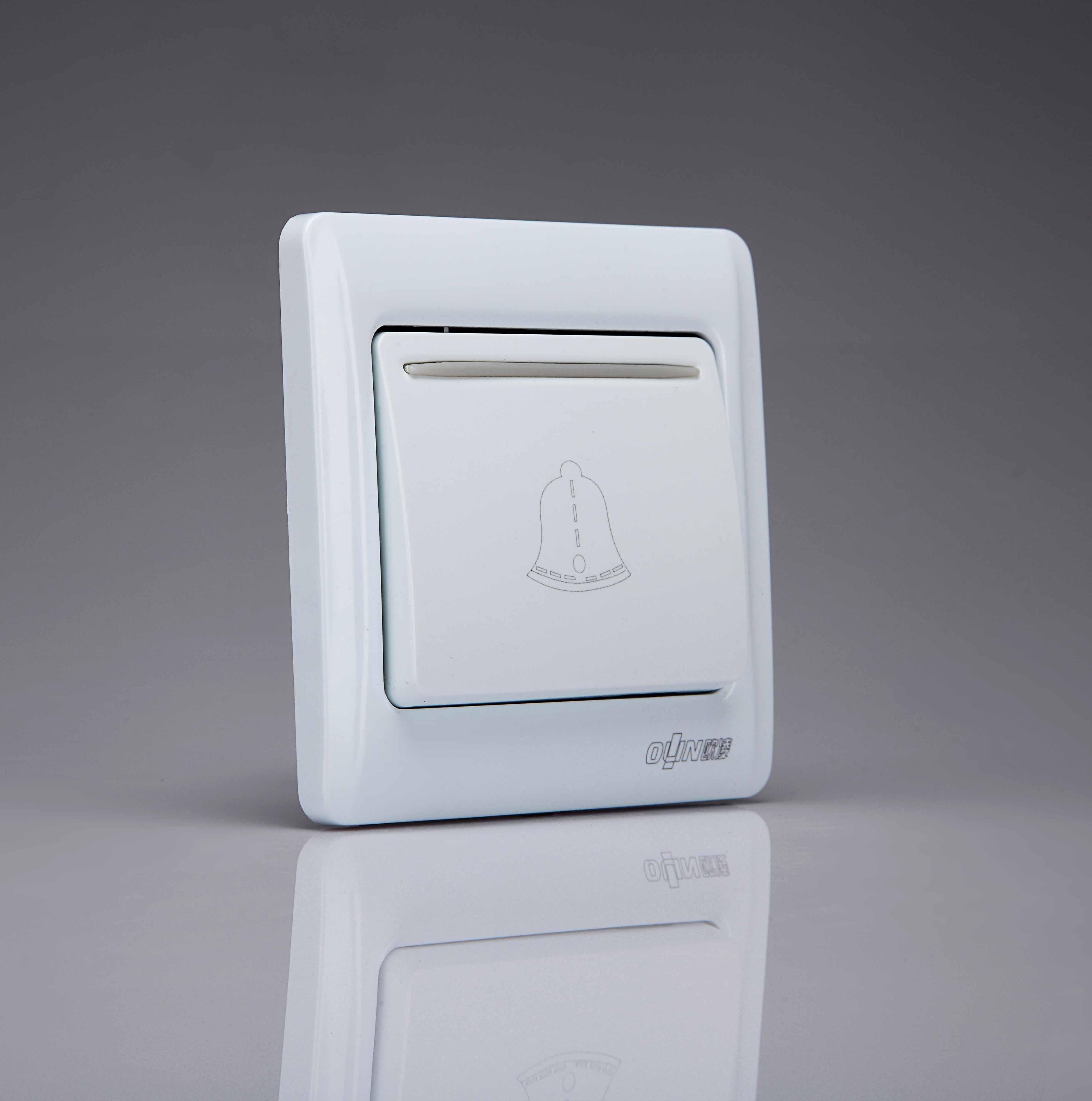 Panneau de commutation de type bouton de sonnette de porte de Réinitialisation automatique de 86 sonnette sans fil avec lampe témoin de moins de 10 yuan d'affranchissement