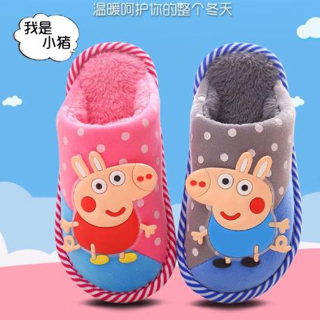 卡通3冬款儿童棉拖鞋5宝宝9男童托鞋6室内小孩拖鞋4包跟8女童10岁