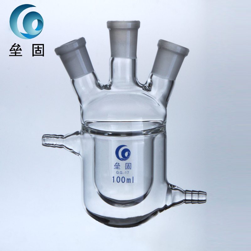 Loikaw three bottles of 150ml24*14*14 double jacketed reaction reactor glass jacketed reaction flask