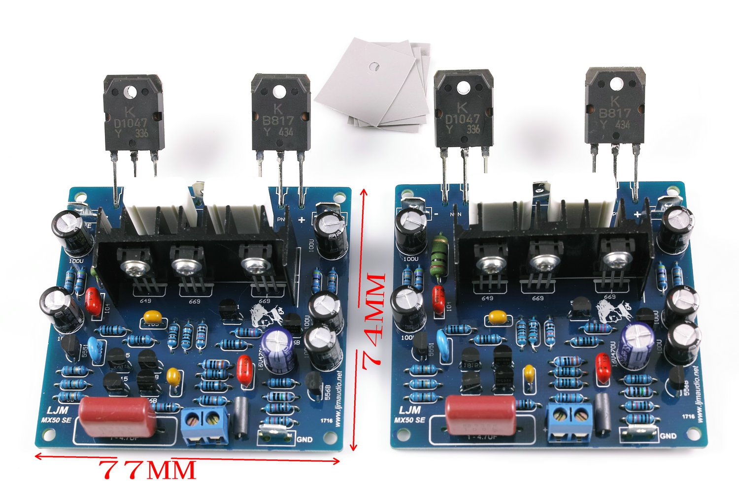 Mx50 Se 100w 8ohm Amplifier Kit With Ktb817ktd1047 By Ljm In 60w 2n3055 Power From Consumer Electronics On Alibaba Group