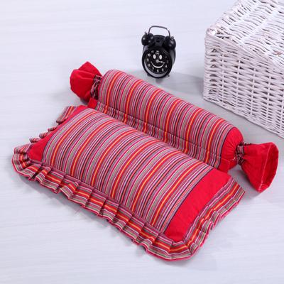 颈椎枕头颈椎专用枕 成人脊椎枕保健枕修复护颈枕全荞麦皮枕芯B款
