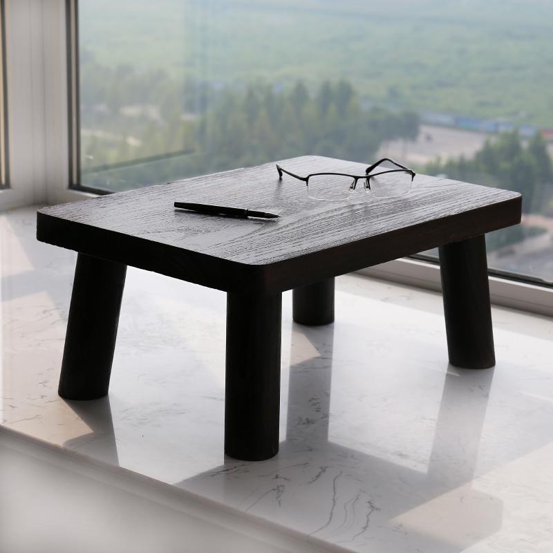 Burn the paulownia wood table tatami bed Piaochuang table table table table table balcony window simple