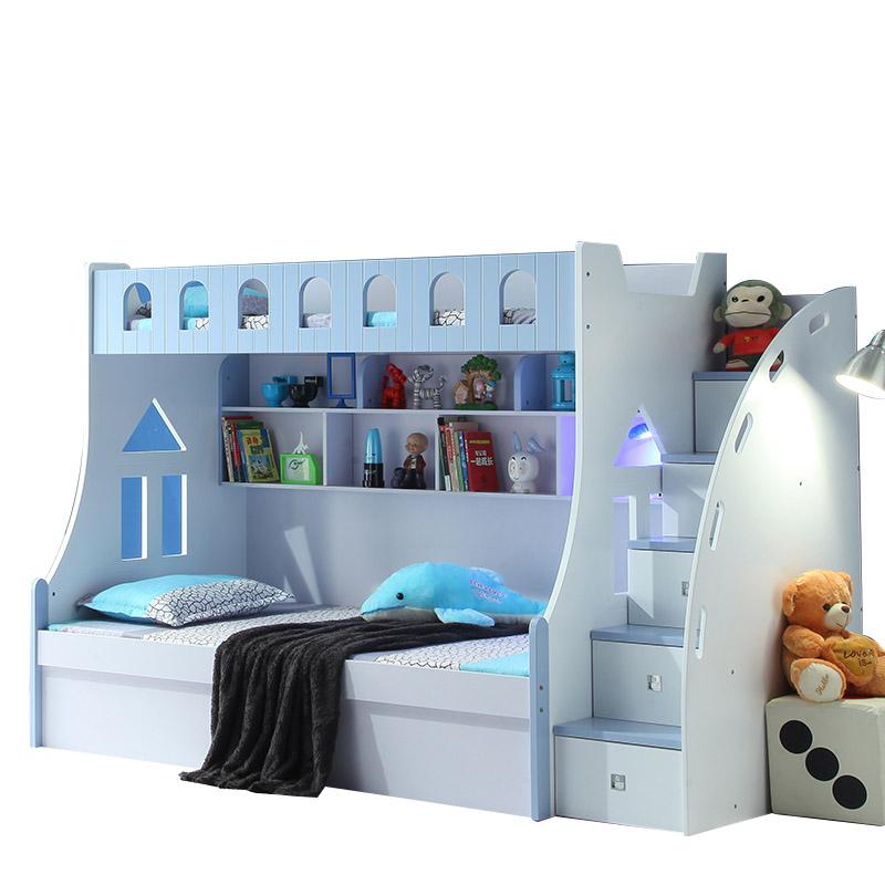 детей двухъярусные кровати 1,5 метров принцесса материнской кровати на кровати в многофункциональный комплекс кровати повышенной в сочетании с кровати, высота