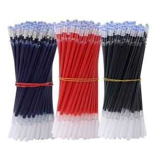 学生中性笔芯0.38子弹头水笔替芯全针管0.5黑红蓝色0.38mm办公用