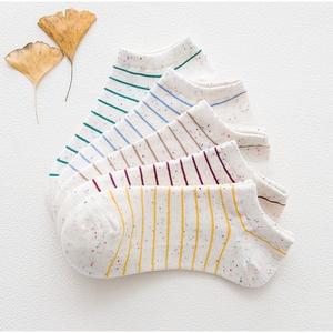 5双韩国纯棉袜子女船袜薄款夏季浅口单鞋低帮可爱学生运动防臭