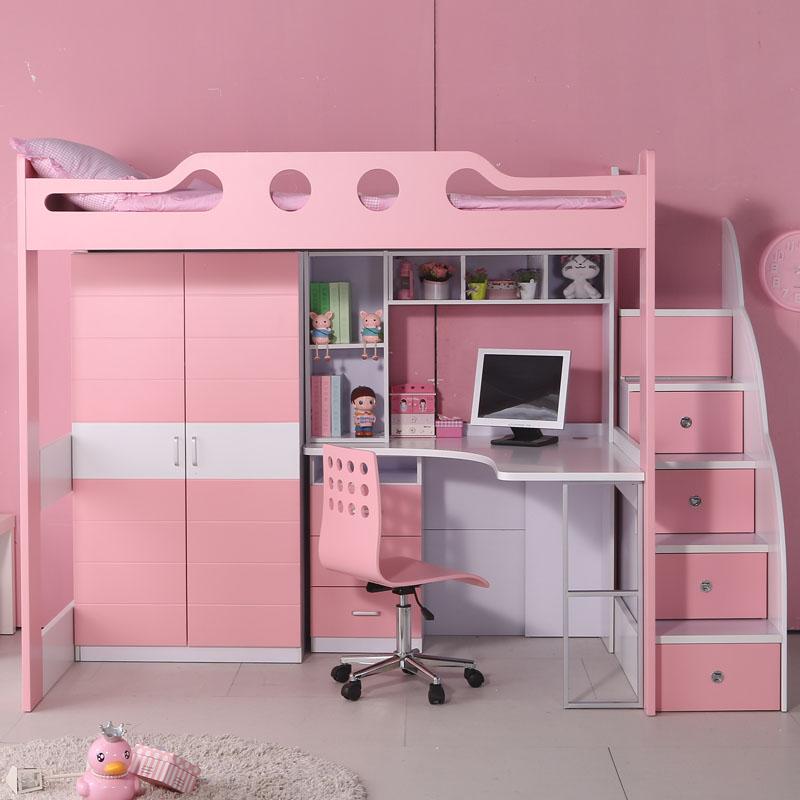 I Bambini a letto a letto Insieme a letto Multi - funzione finestra della Madre sul letto, letto doppio letto scrivania letto con la Provincia dello Spazio nell'armadio