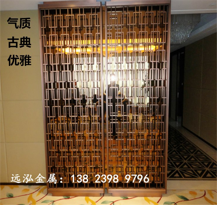 Stainless steel art background wall tracery screen the lobby of the hotel sales department room factory direct supply can be customized