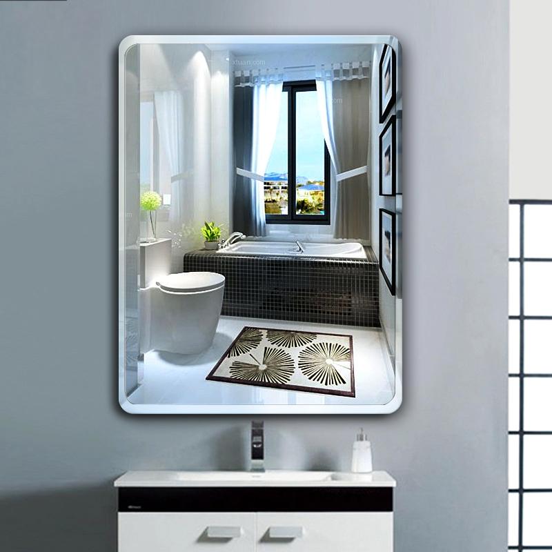 Espelho decorativo de parede espelho do banheiro banheiro pequeno amplificador de parede espelho maquiagem Dentro de Casa de Banho