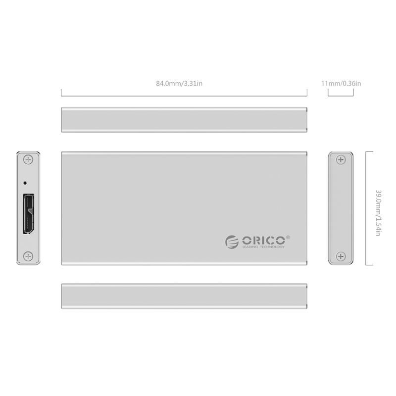 OricoMSAMsata solid - State - SSD - festplatte box usb3.0 mini - sata - Notebook - festplatte