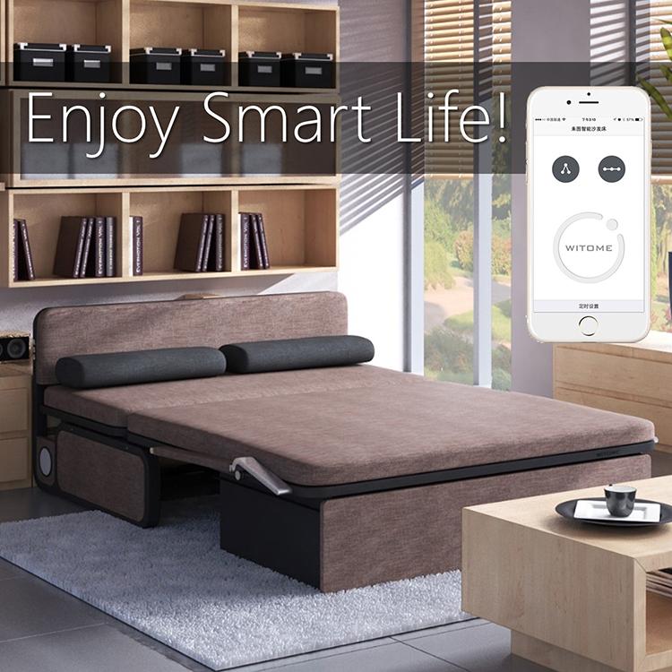 τηλεχειριστήριο ηλεκτρικό πτυσσόμενο καναπέ - κρεβάτι 1,8 m μια πολυλειτουργική αποθήκευση απλό μικρό διαμέρισμα μονό 1.2 διπλό 1,5 m