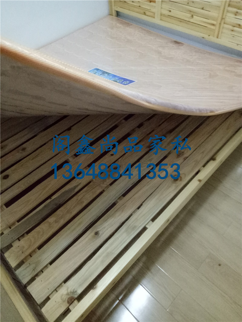 Pavilion Xin Shang furniture, solid wood Chinese fir bed double bed, buy bed mat, Kunming city free door-to-door installation