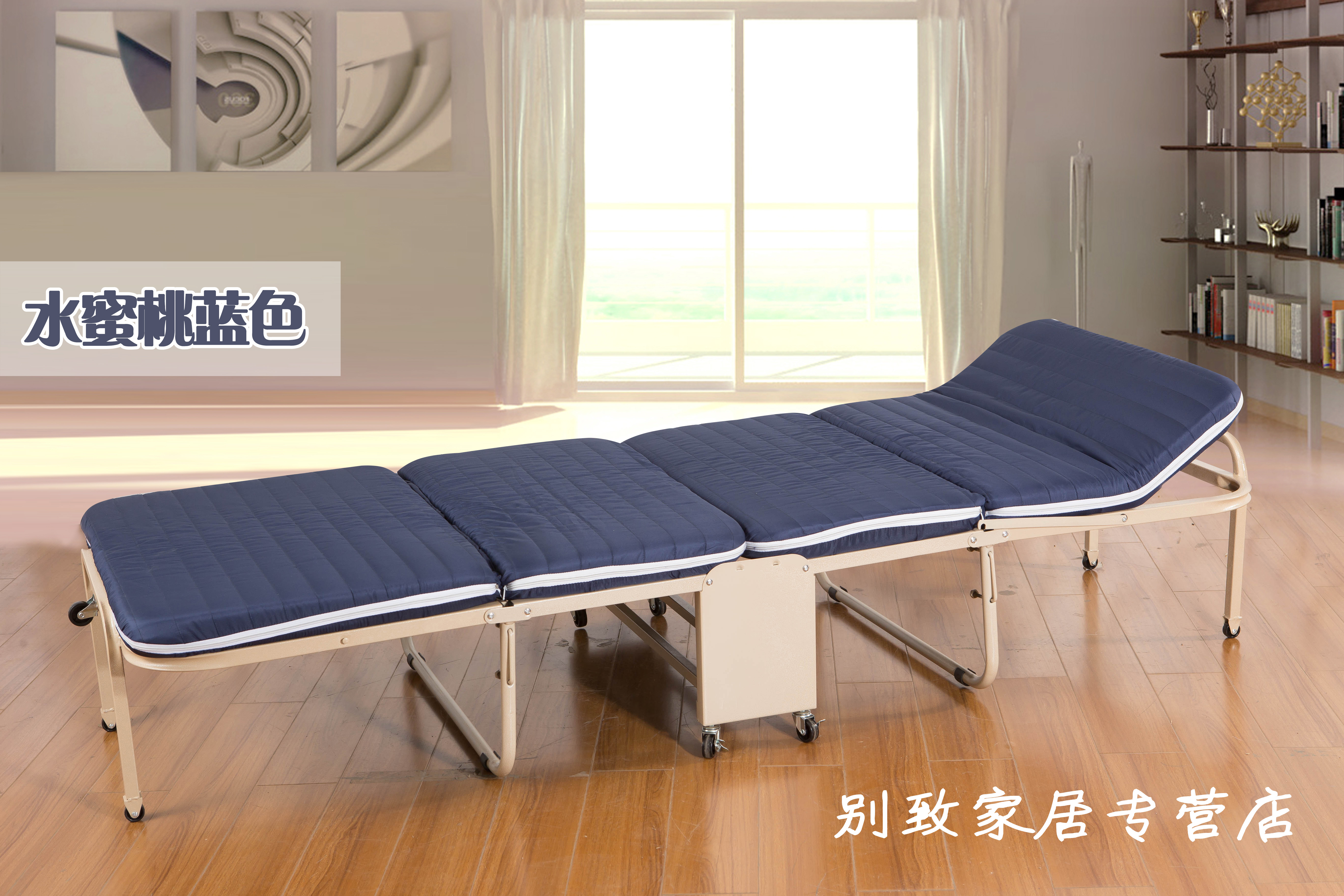 Widening thick sponge folding bed, lunch bed, wooden bed, single bed, double bed, children's bed bed, ten provinces mail