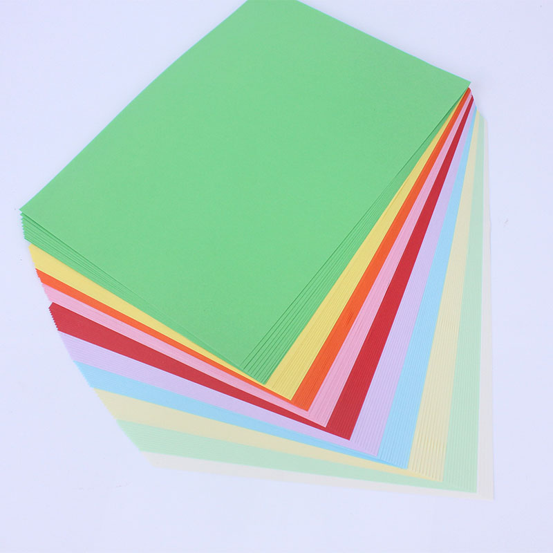 A4 size, color origami, 80G color origami, child origami, color printing paper 100 / pack