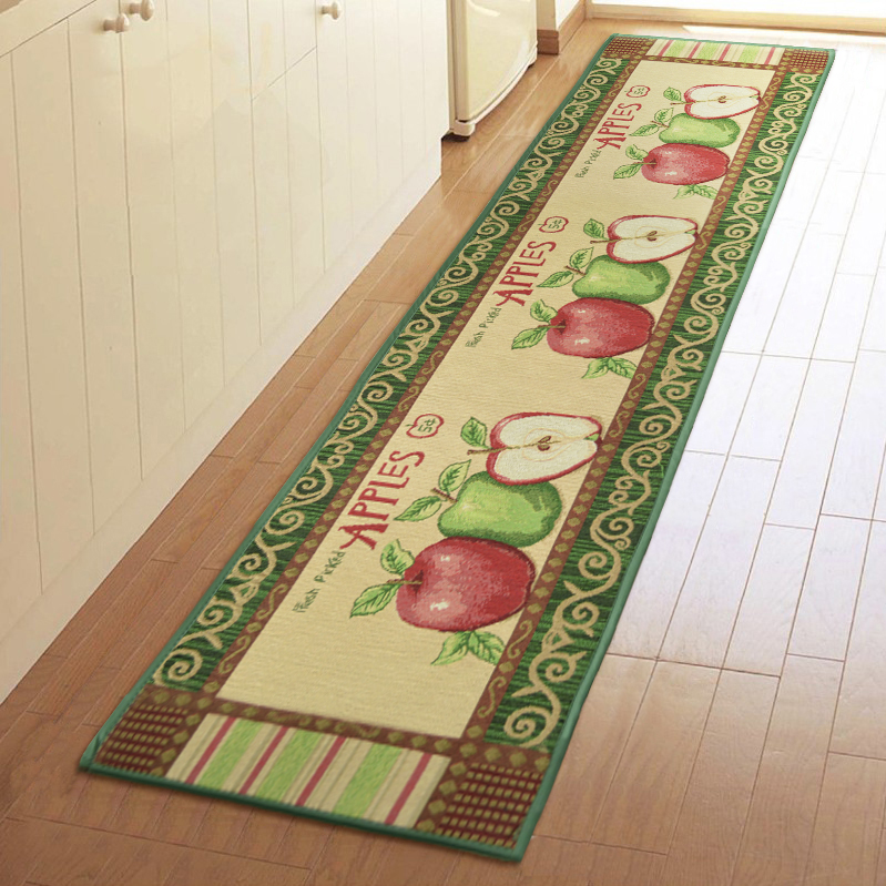 Country Style Apples Fiber Living Bedroom Floor Mat Rug