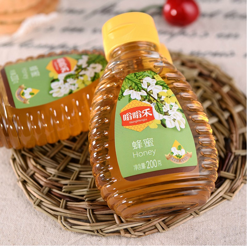200g to 1000g new honey bottle, plastic bottle, food grade silica gel extrusion bottle, thickening transparent sealing pot