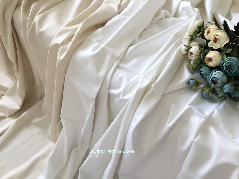 Foreign trade summer cool feeling 60 Tencel Satin naked beddings four pieces with 1.8 meters bed
