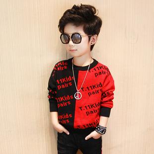 童装男童毛衣套头 秋冬款2018新款韩版儿童针织衫中大童打底上衣