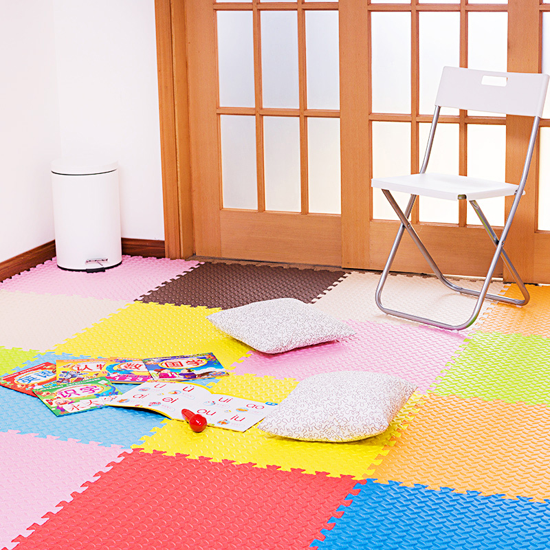 Children bedroom floor puzzle baby crawling pad 60x60 thick foam mats tatami stitching