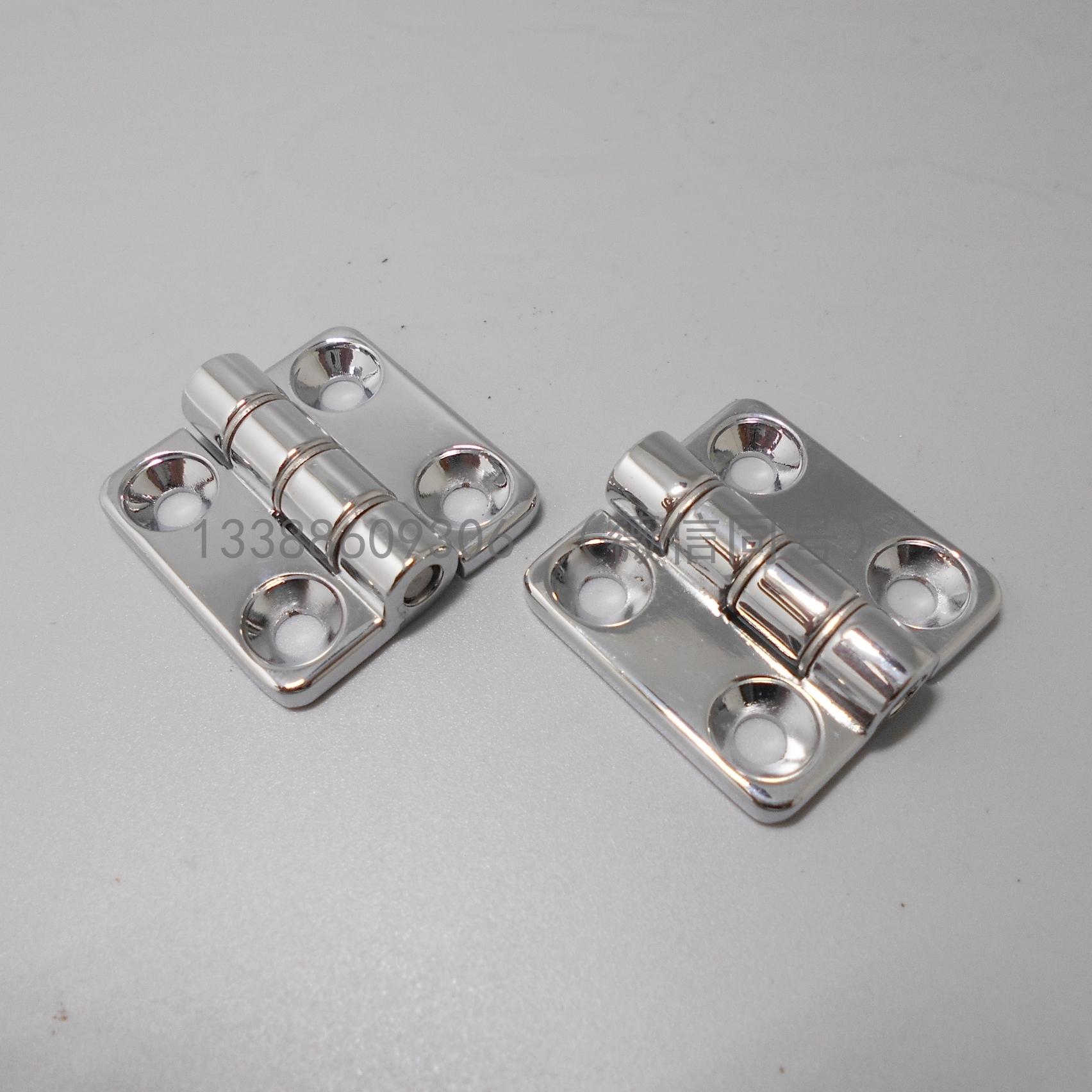エレガントな明装亜鉛合金ヒンジピンシャフト角丸陈孔小ステンレスヒンジ30 mm×30 mm