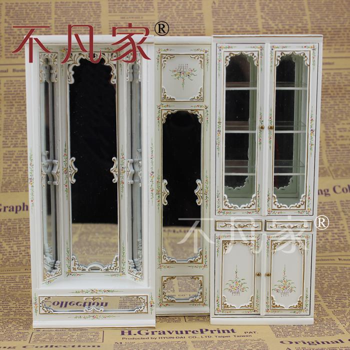 dom lalek Miniature1:12 jego drzwi - mini - meble, szkło