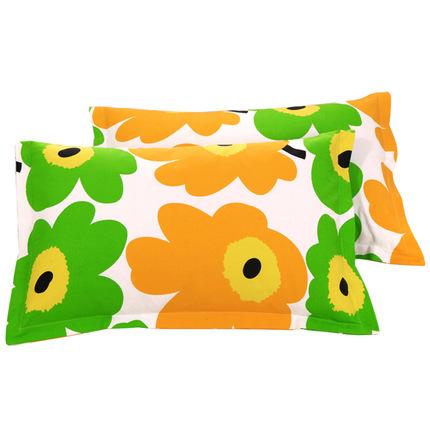 枕头套纯棉一对成人大号单人老粗布全棉枕皮74*48cm包邮 不含枕芯