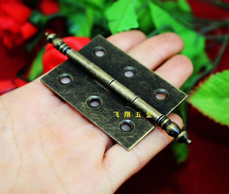 A small crown head hinge Jiezhuang antique hinge 6 Hole hinge hinge hinge hinge in tin gift box