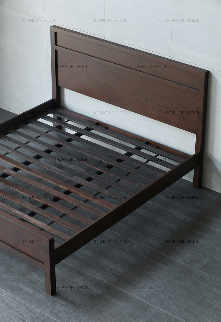 Nordic expression /N.U. new city series of all imported furniture / old gold high back bed double bed /2