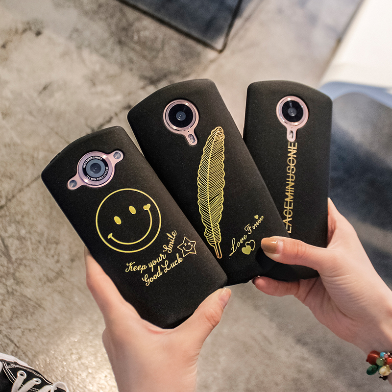 Figure M8/M6/M6s matte bronzing beauty brand mobile phone T8/M4 case package soft shell fall Proof Set fashionista
