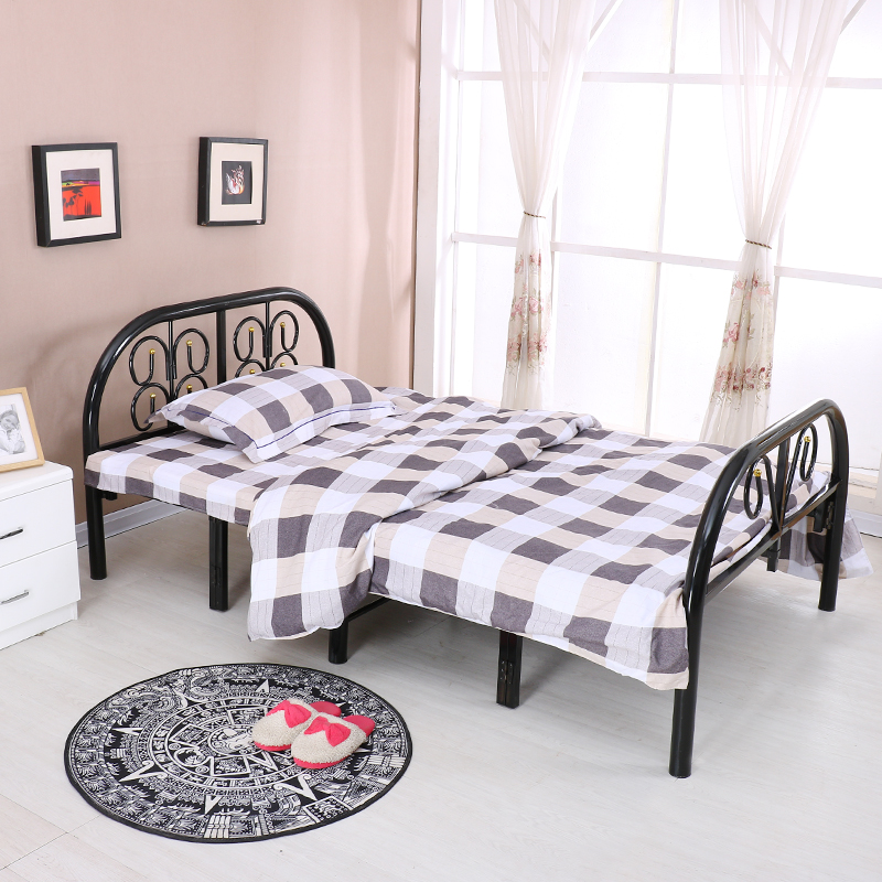 Family folding bed, single lunch, double nap, solid wood board, child care, 1 meters, 1.2 meters, 1.5 meters wide reinforcement