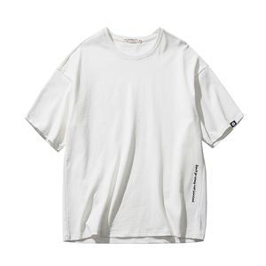 夏季丅恤男短袖韩版潮流圆领半袖男生2019新款ins潮牌白色t恤宽松