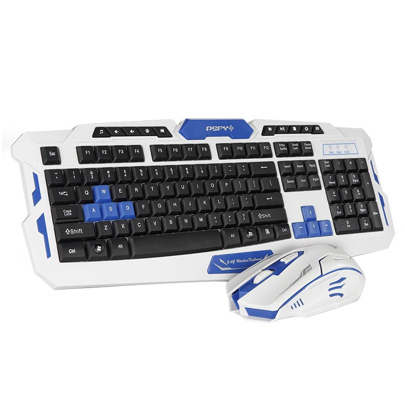 Wireless light metal keyboard and mouse two sets and plus machine mechanical feel game key mouse