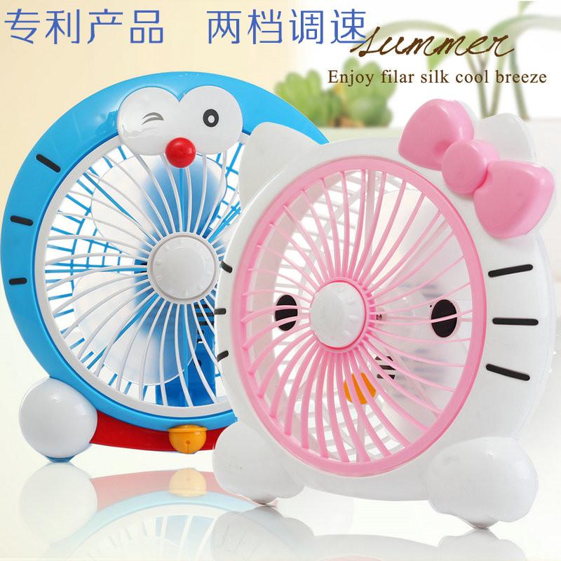 The mini fan cartoon dormitory desktop small fan fan fan home office head wind