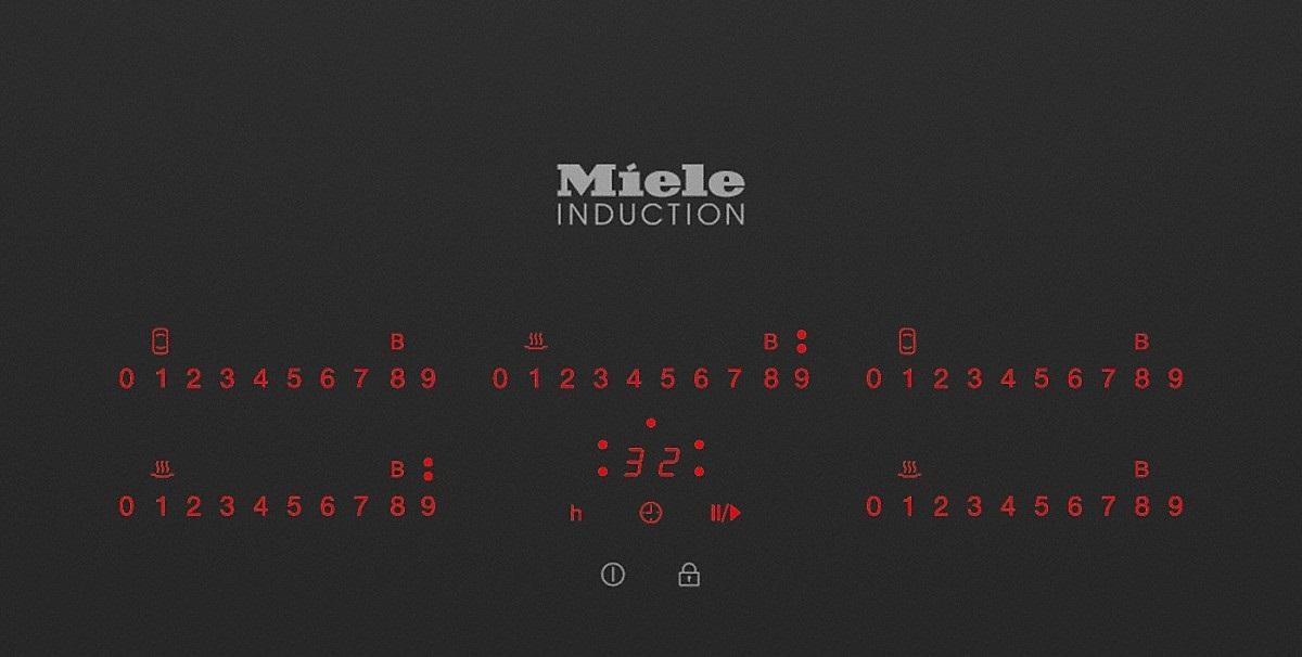 Η Γερμανία meno MieleKM6388 ενσωματωμένο το ηλεκτρομαγνητικό φάσμα ηλεκτρομαγνητική λέβητα δέσμη δεμάτων φόρου