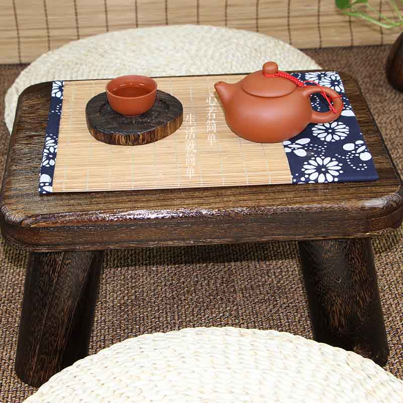 Shipping / Japanese tatami burn wood table table windows and small computer desk a few Kang Kang table bed leisure table