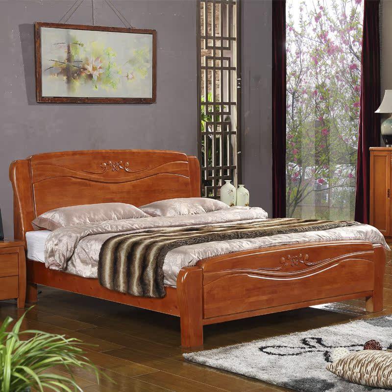 современный китайский 1,8 метров деревянные кровати Кровать двуспальная кровать ящик хранения высокий дуб 1,5 отправить полноценный сосны кровать