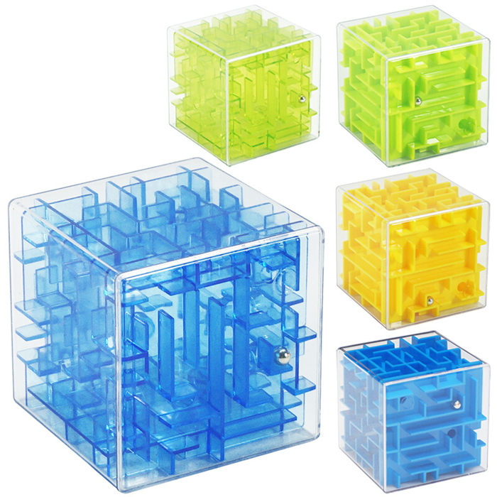 First, 3D cube rotating maze toys for children to develop intelligence early ball toys
