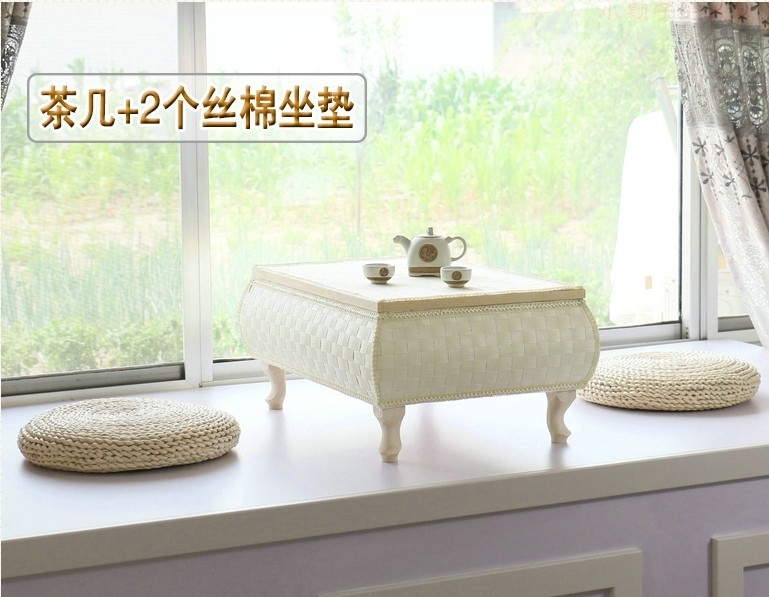 Solid wood table table table table table window bamboo couch m a rattan couch arhat bed on the table a few Kang Table