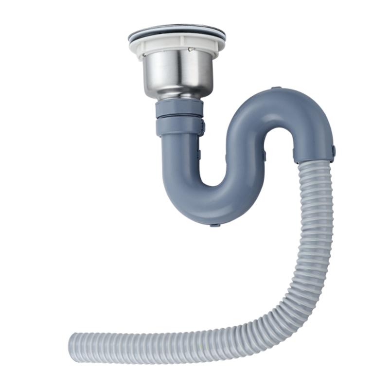 No hay desbordamiento de drenaje de agua un tanque de acero inoxidable lavado de vegetales de la cuenca de tuberías de agua en el filtro de control de plagas