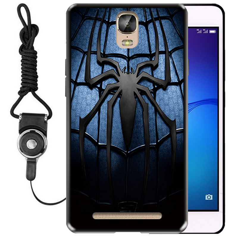 With a long rope support silicone Gionee M5PLUS mobile phone shell falling GN8001L protective sleeve GN8001 soft shell