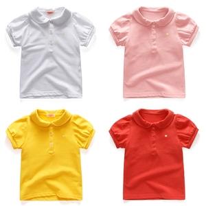 女童t恤短袖儿童宝宝短袖女童白t儿童polo衫小童儿童t恤宝宝polo