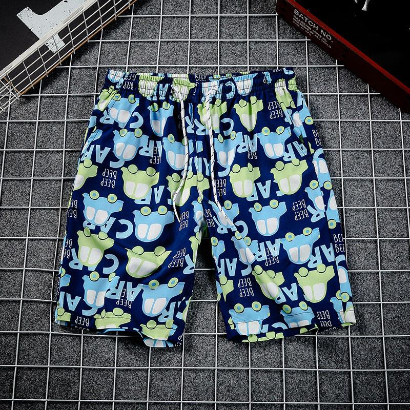大卫路易斯男士夏季裤子男韩版潮流潮短裤休闲宽松百搭沙滩五分裤