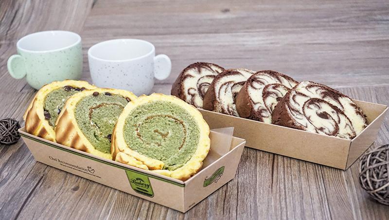ロールケーキ長い形のトースト焙煎洋菓子サンドイッチ箱食品纸塑包装ボックスそぼろ小貝箱