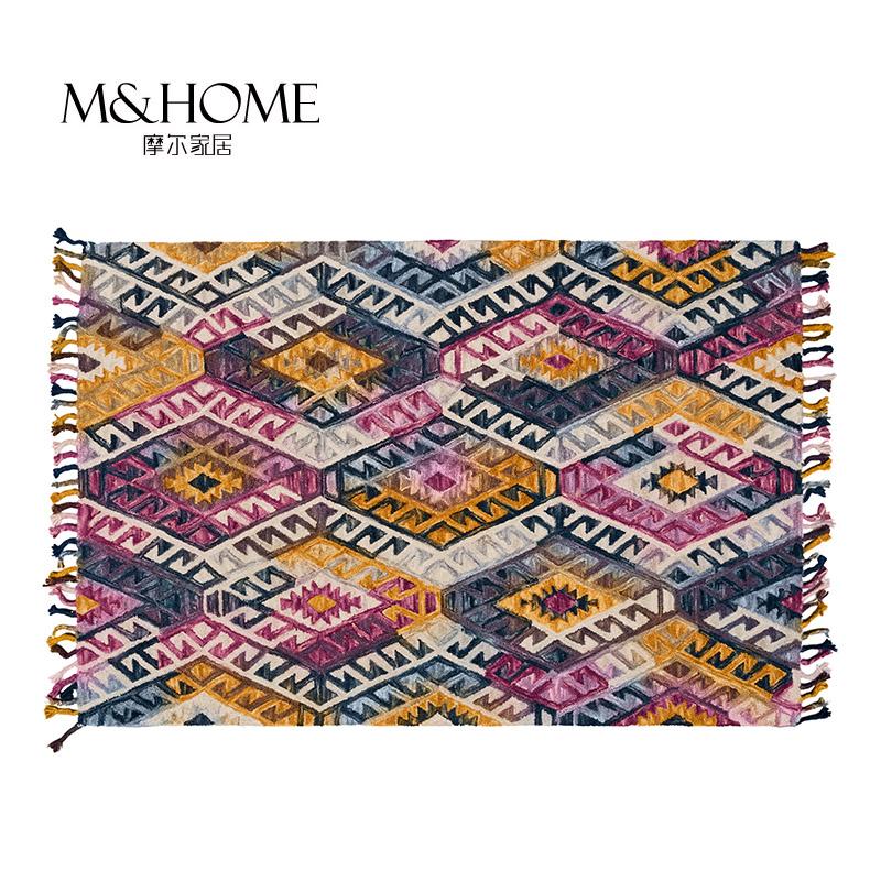 Las importaciones de la India de la mano de norte americano o incumplimiento de geometría pura lana con dormitorio, Sala de estar con engrosamiento de la alfombra