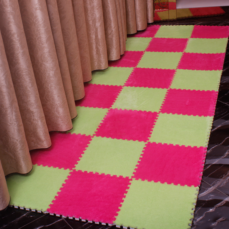 The floor is full of simple modern living room carpet machine washable pad stitching foam bed tatami mat household bedroom