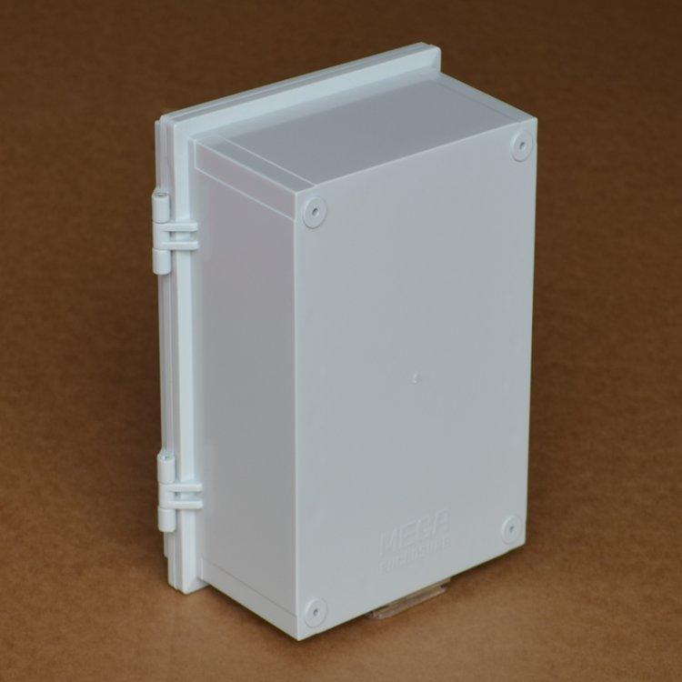 150 * 200 * 100 mmヒンジ型バックル防水ボックスabsプラスチック配線箱計器箱防水配線箱